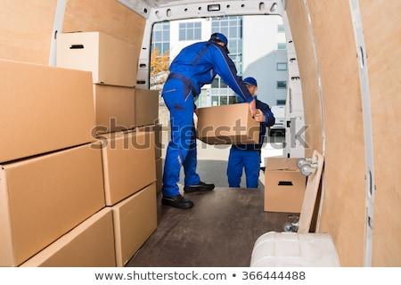 Camión van cargar eliminación entrega Foto stock © AndreyPopov