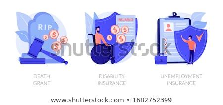 Desempleo seguro resumen beneficios perdido Trabajo Foto stock © RAStudio