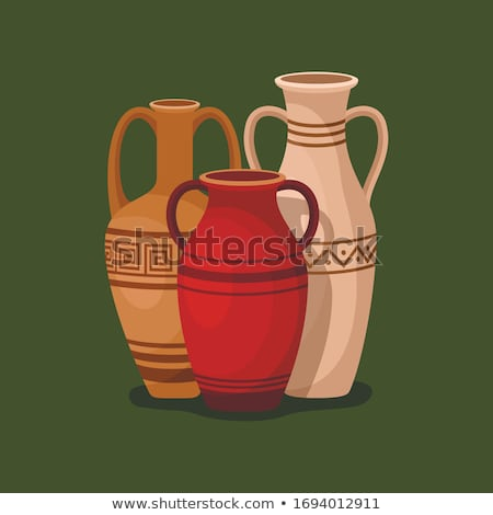 Vintage Crockery, Traditional Ancient Ceramic Jugs Stock photo © robuart