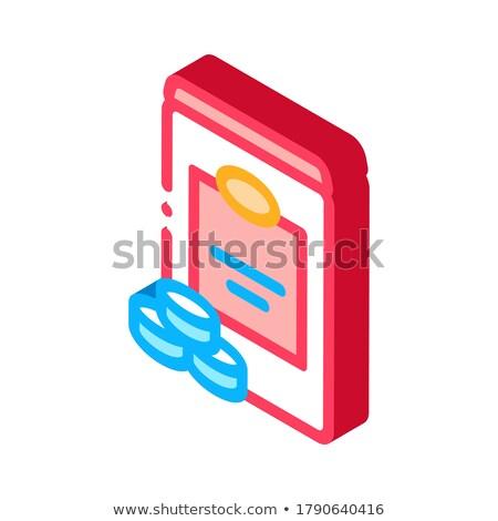 Tatlandırıcı şişe izometrik ikon vektör imzalamak Stok fotoğraf © pikepicture