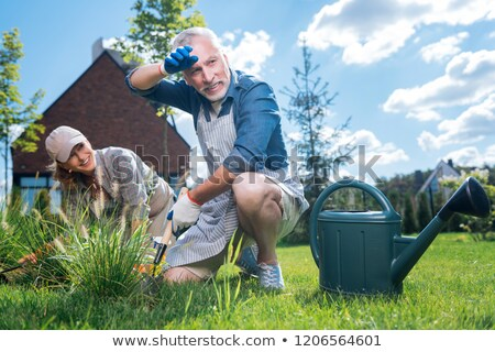 After hard work in a garden Stock photo © Nobilior