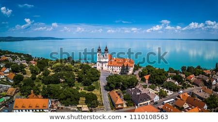 abadia · cidade · nome · península · lago · Balaton - foto stock © lithian