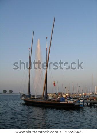 Boot meer Zwitserland oude Frankrijk Stockfoto © Elenarts