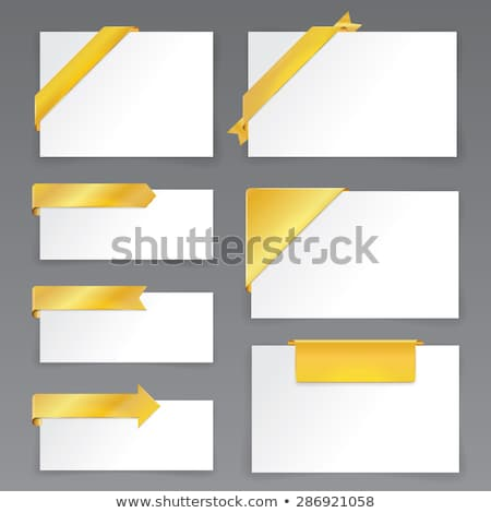 set of new colorful corner ribbons   arrows stock photo © orson