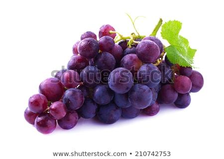 Pourpre raisins feuilles vertes isolé blanche vin Photo stock © cidepix