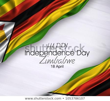 Grunge bayrak Zimbabve eski bağbozumu grunge texture Stok fotoğraf © HypnoCreative