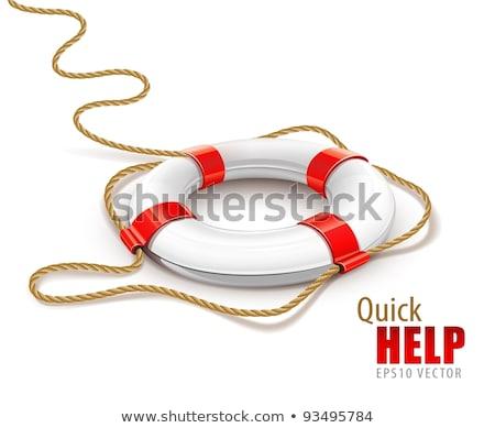 Foto stock: Rescate · anillo · rápido · ayudar · aislado · blanco