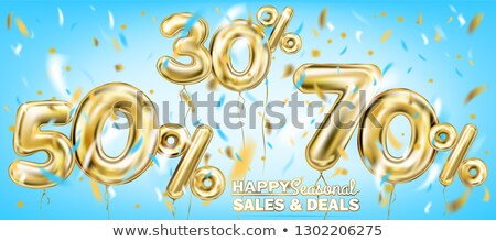 Thirty percent discount shiny digits stock photo © deyangeorgiev