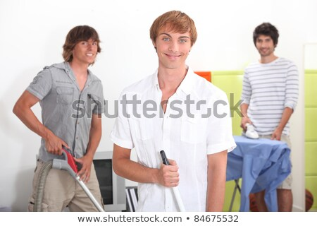 Three lads doing their chores Stock photo © photography33