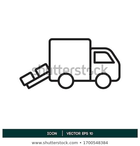 линия иллюстрация грузовика чистой ван Сток-фото © lkeskinen