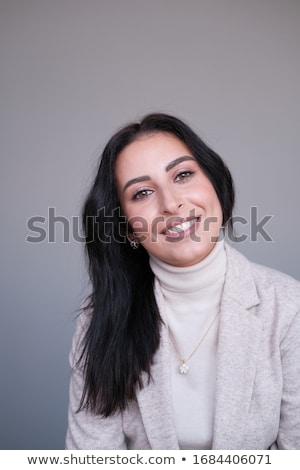 Dark-haired lady Stock photo © zastavkin