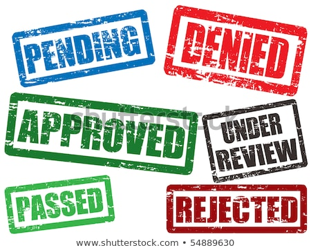 Denied rubber stamp Stock photo © IMaster