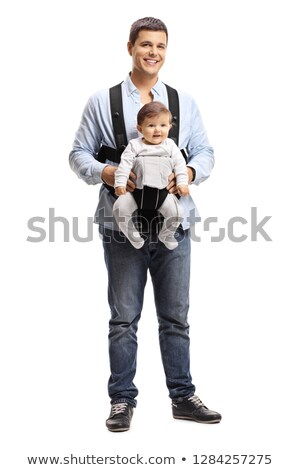father with baby isolated stock photo © paha_l