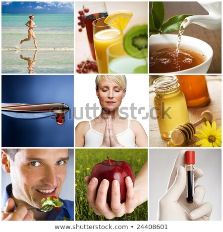 Collage of a woman living a healthy lifestyle stock photo © photography33