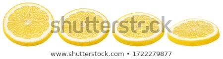 Tele keresztmetszet citromsárga citrom izolált fehér Stock fotó © boroda