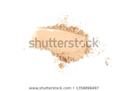 Stock fotó: Smink · por · izolált · fehér · arc · nők
