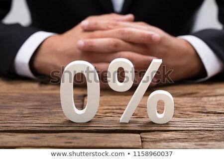 Nulla százalék kamatláb pénzügy Stock fotó © devon