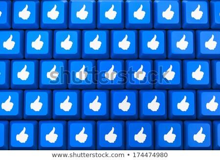 親指 · アップ · 青 · キーボード · キー · ソーシャルメディア - ストックフォト © redpixel