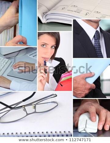 affaires · affaires · homme · d'affaires · séance · blanche · table - photo stock © photography33