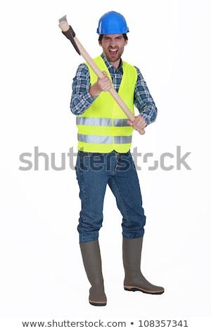 Enojado artesano trabajo industria trabajador Foto stock © photography33