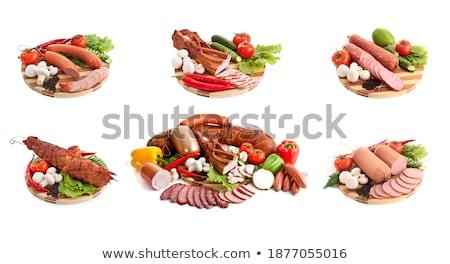 овощей · изолированный · белый · стороны · обеда - Сток-фото © shutswis