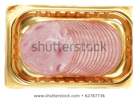 sliced meat packaged on plate Stock photo © shutswis