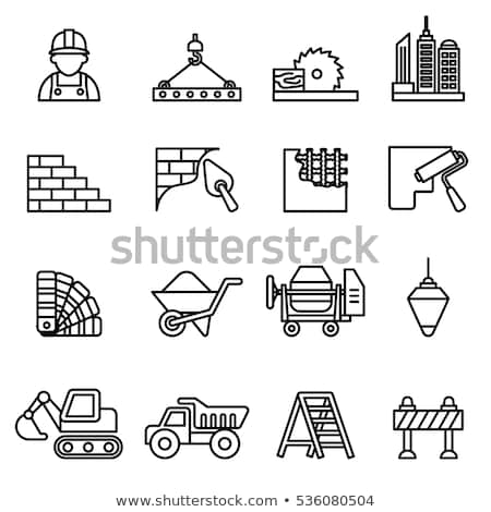 Worker on a stepladder Stock photo © photography33