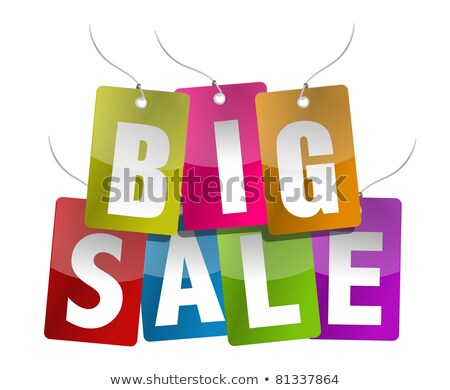 Big Sale And Different Percentages In Color Circles Photo stock © alexmillos