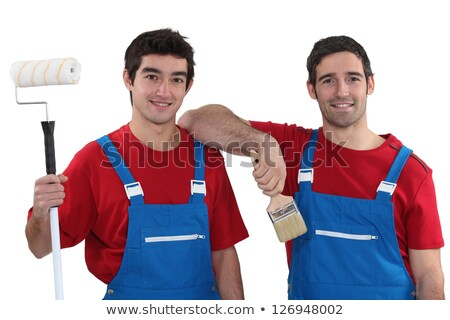 Two painters wearing matching outfits Stock photo © photography33
