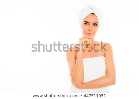 Happy spa woman thinking stock photo © Ariwasabi