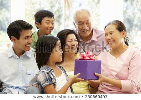 Asian Family Birthday Present Stock Photo C Wong Sze Fei