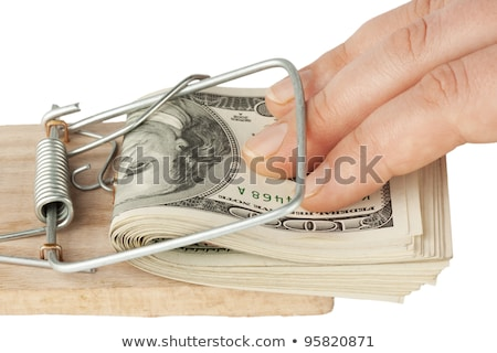 mouse · armadilha · dólar · nota · fundo · mercado - foto stock © pterwort