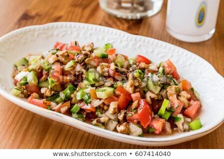 türk · salata · çoban · karışık · soğan · domates - stok fotoğraf © ozgur