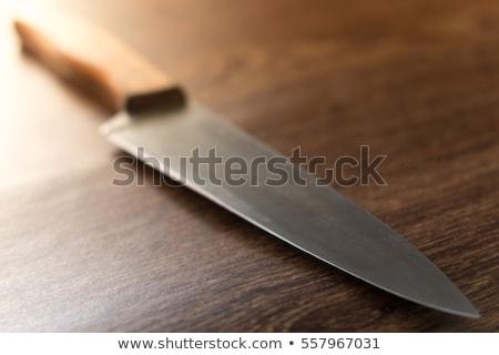 grande · coltello · nero · gestire · bianco · metal - foto d'archivio © ozaiachin