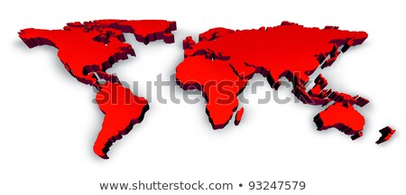 Red 3D Wold Map Stock photo © Lightsource