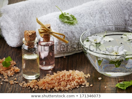 Bath salt and water droplets Stock photo © ElinaManninen