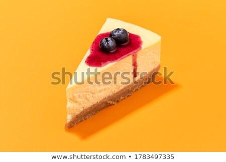 ストックフォト: チーズケーキ · スライス · 白 · チョコレート · 食品 · デザート