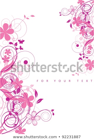 Foto d'archivio: Grunge Flower Background With Butterfly
