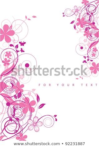 Гранж · цветок · бабочка · краской · элемент · дизайна - Сток-фото © wad