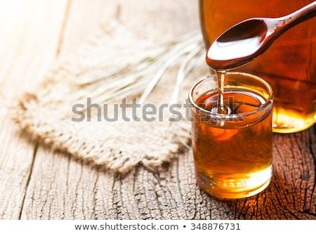 клен сироп меда бутылок цвета десерта Сток-фото © saddako2