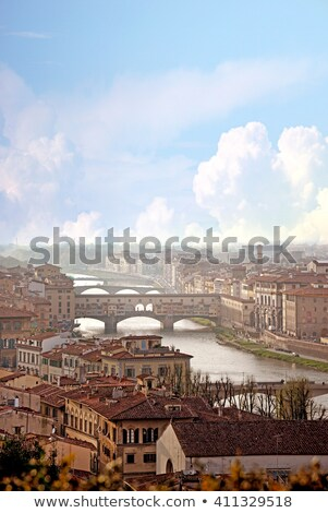 Ponte Vecchio and Arno from Above Stock photo © dbvirago
