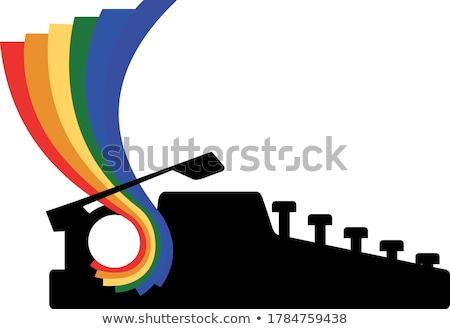 гей гордость флаг письме документа вектора Сток-фото © gubh83
