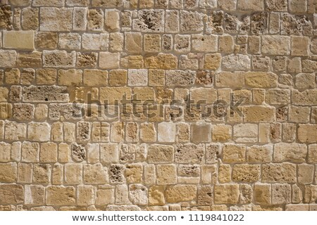 Sluiten zandsteen muur gebouw rock Stockfoto © Zerbor