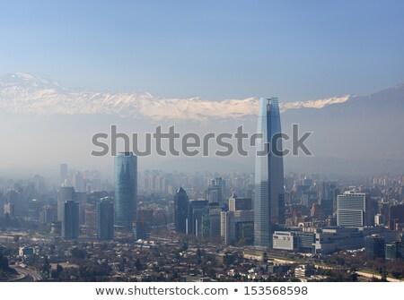 загрязнения Сантьяго 2013 общий мнение Чили Сток-фото © fxegs