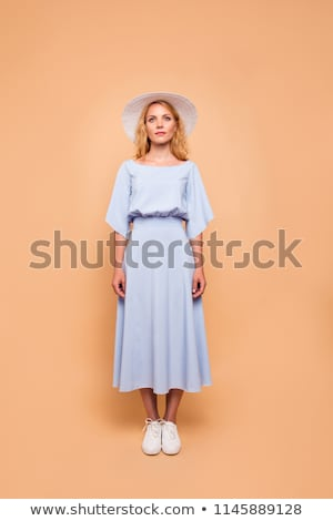 Blonde fashion young girl full length studio stock photo © lunamarina