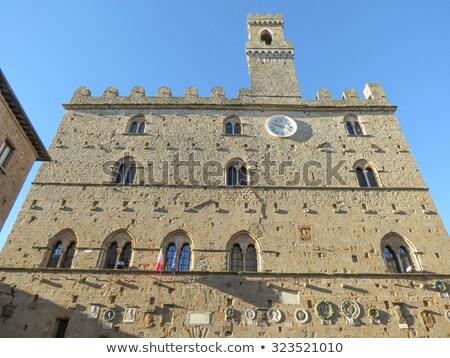 Palazzo dei Priori the Town Hall of Volterra, Italy Stock photo © aladin66