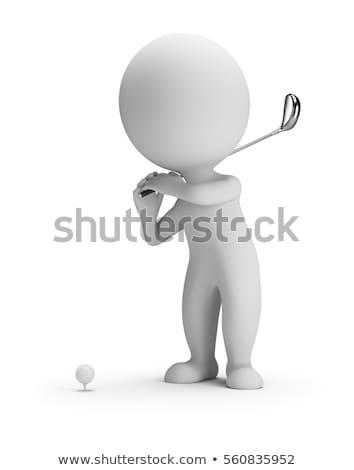 3D pequeño hombre swing acrobático sentido Foto stock © karelin721