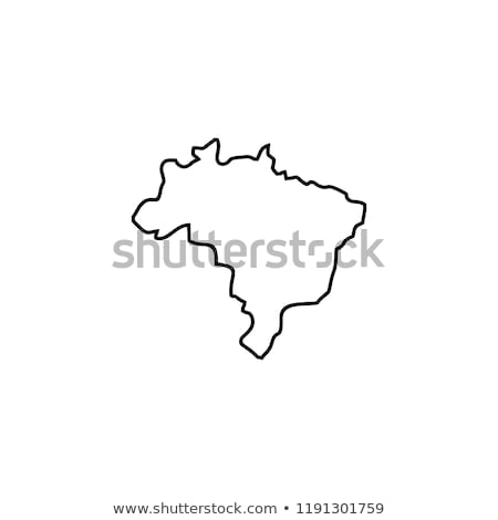Brezilya ikon şehir inşaat damga kartpostal Stok fotoğraf © Myvector
