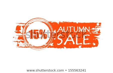 Autunno vendita banner 15 percentuali Foto d'archivio © marinini
