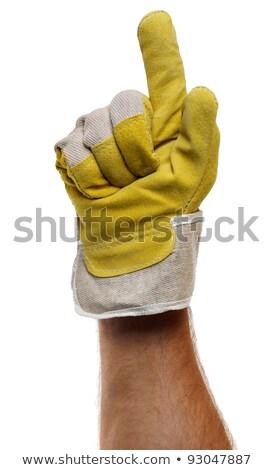 Strong worker hand glove fist Stock photo © Anterovium